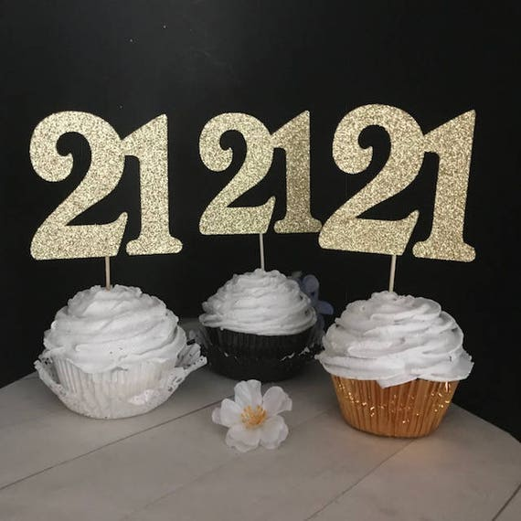 21st Birthday Cupcake Toppers