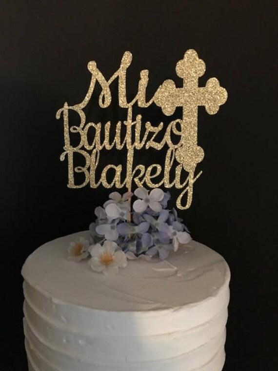 3D Baptism Mi Bautizo Cake Topper