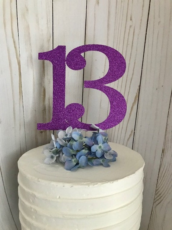 ANY NUMBER Cake Topper 13 Thirteen