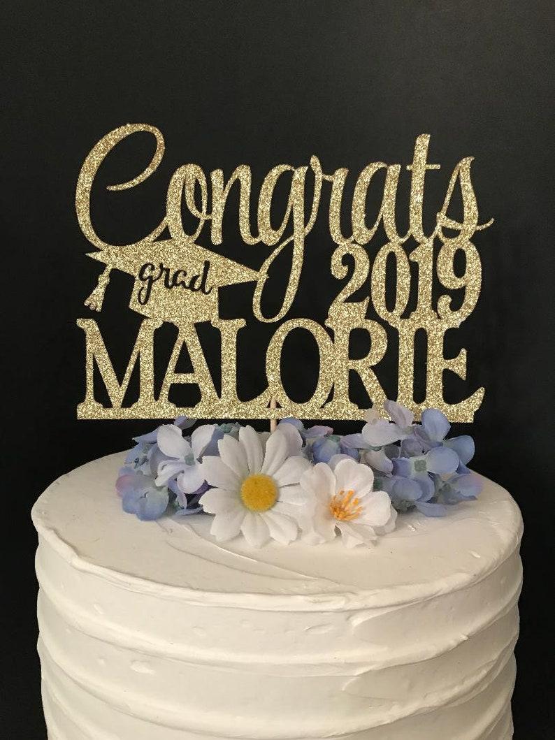 Graduation Cake Topper Personalized Graduation cake topper ...