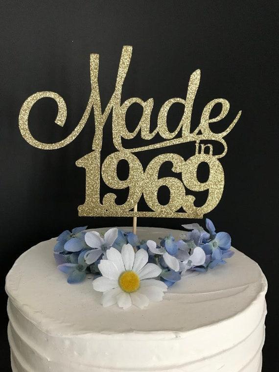 Fifty Birthday Cake Topper 50th Birthday Cake Topper Fiftieth Birthday Topper Thirtieth Birthday Cake Topper Any Age Cake Topper