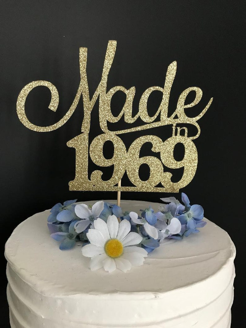Fifty Birthday Cake Topper 50th
