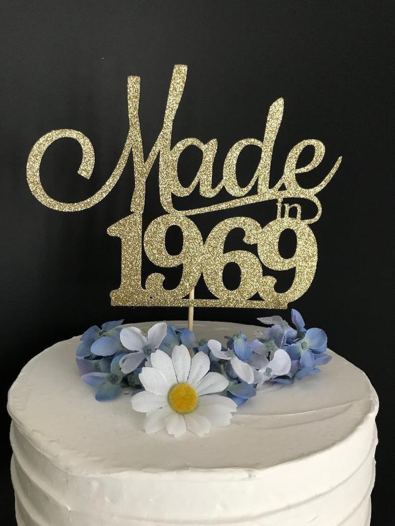 Fifty birthday cake topper 50th birthday cake topper | Etsy