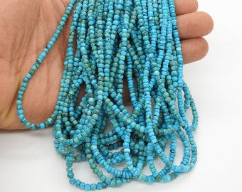 Natural Campitos Blue Mexican Turquoise Large Chip Bead Semi-Precious Stone Sonora Mexico Jewelry Making Supplies DIY Beading Sundance Style