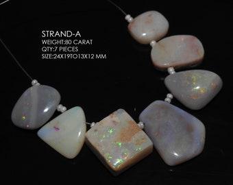 1 Strand 7 Pcs White Aquamarine Fancy Shape Faceted Briolettes 100/% Natural Finest Quality Wholesale Price New Arrival