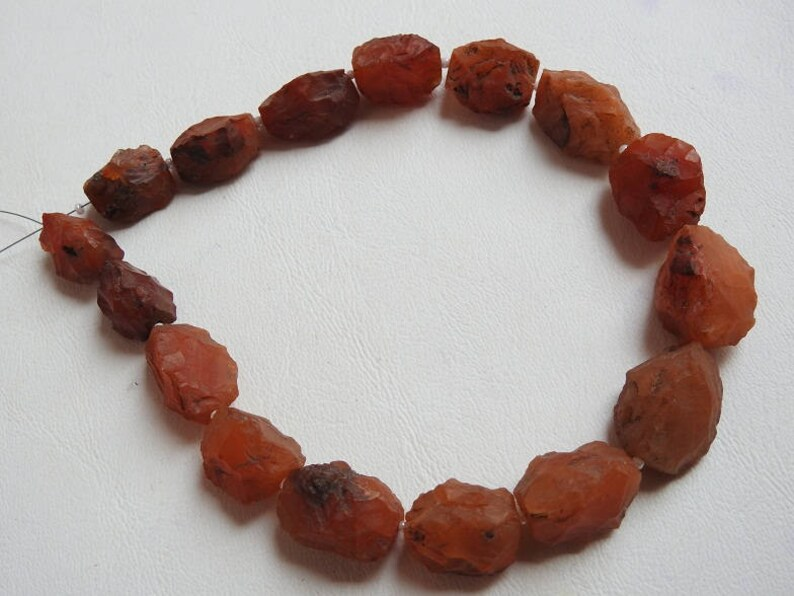 pme 1.Strand 12 Carnelian Marquise Shape Hammer Rough Beads 20x15 To 15x12 MM Approx 100/% Natural Finest Quality Wholesale Price