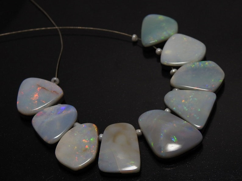 Australian Opal Doublet 1.Strand 9 Pieces Smooth Fancy Shape Briolettes Finest Quality 100/% Natural Wholesale Price New Arrival
