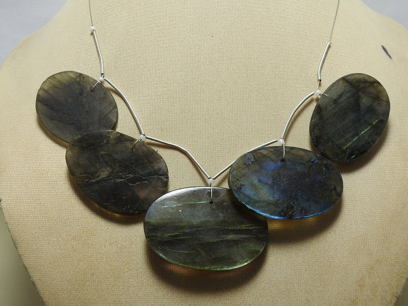 Strand 5 Pcs Labradorite Fancy Oval Shape Faceted Briolettes Top Front Drill Finest Quality 100/% Natural Wholesale Price New Arrival 1