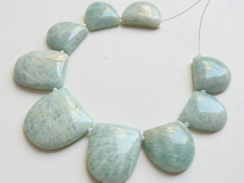 Real Amazonite 9 Pcs Smooth Fancy D Shape Briolettes Finest Quality 100/% Natural Wholesale Price New Arrival