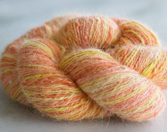 Orange Sherbet Handspun Angora