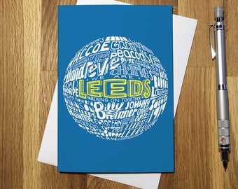Leeds United Football Greetings Card