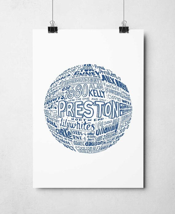 Preston North End fc Deepdale Metal Street Sign 2 Sizes Available football