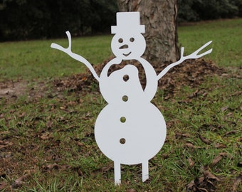 snowman yard stake - Outdoor Snowman Christmas Decorations
