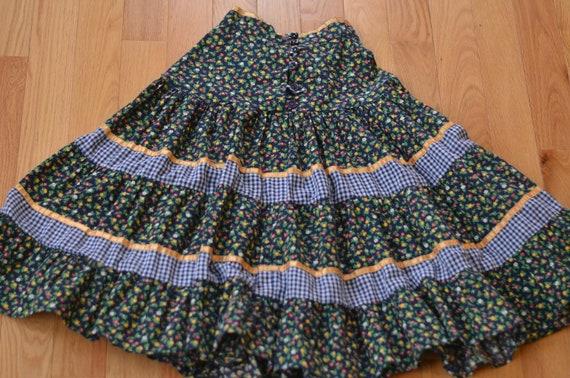 Vintage 70s Gunne Sax Prairie Skirt Jessica's Gunn