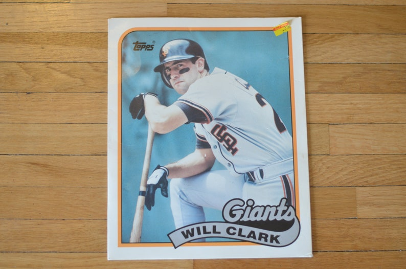 Vintage 80s Topps Baseball Pocket School Folder Will Clark San Etsy