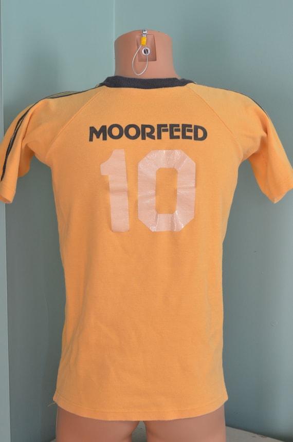 8ffb9d8c9998b 80s T-Shirt Soccer Shirt EUYSA Eagle Union Youth Soccer Association Union  Jacks Medium Golden Yellow Tee