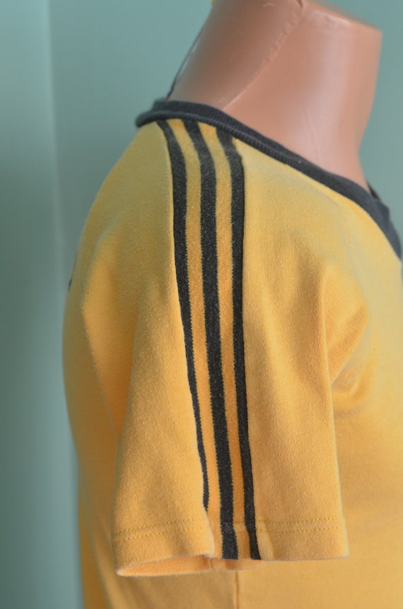 20483068df0af 80s T-Shirt Soccer Shirt EUYSA Eagle Union Youth Soccer Association Union  Jacks Small Golden Yellow Tee