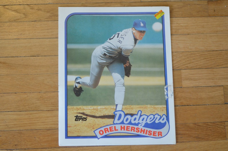 Vintage 80s Topps Baseball Pocket School Folder Orel Hershiser Etsy