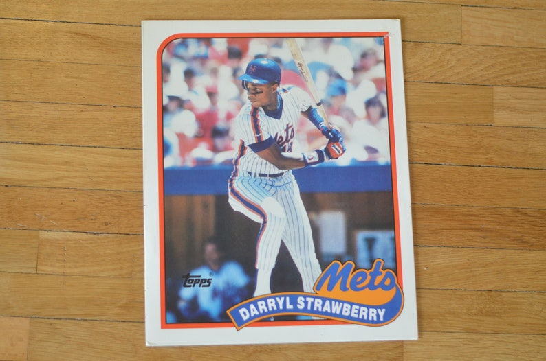 Vintage 80s Topps Baseball Pocket School Folder Darryl Etsy