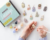 DIY Painting Earring Kit, Spring Craft kit, bachelorette party craft, bridesmaids, Craft Night, statement earrings, zoom craft, Betty Kit