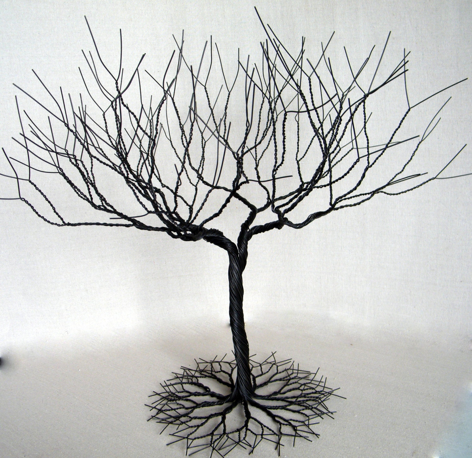20in Superdense Black Jewelry Tree Stand Display. Wire Tree