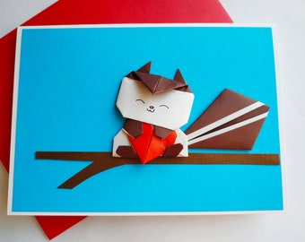 Cat Birthday Card Pop Up Card Valentine Card 3d Origami Etsy
