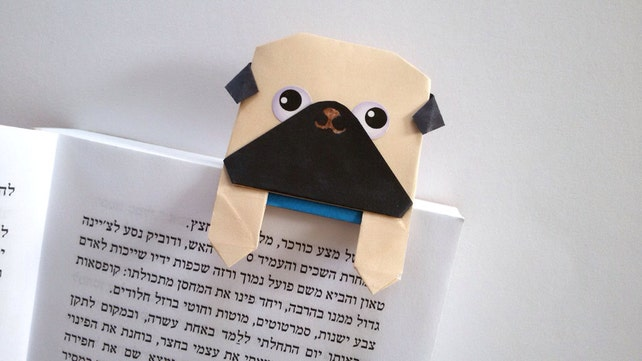 Cute Handmade Origami Pug Page Planner Marker Unique Paper Etsy