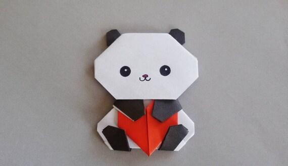 Handmade Origami Panda Magnet Little Anniversary Gift For Etsy