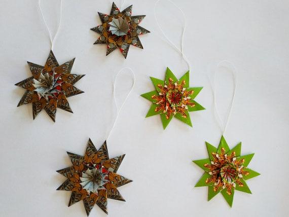 Origami Twinkle Star Tutorial - Puffy Stars - Paper Kawaii | 428x570