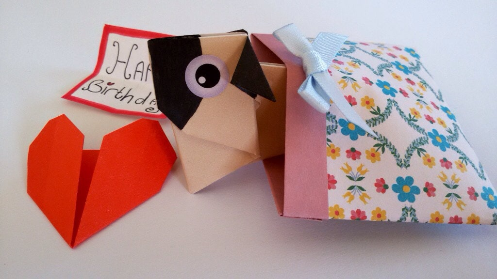 Pop Up Pug Birthday Love Card Cute Gift