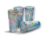 Multi Color Pattern - Hand Blown Pint Glass Set