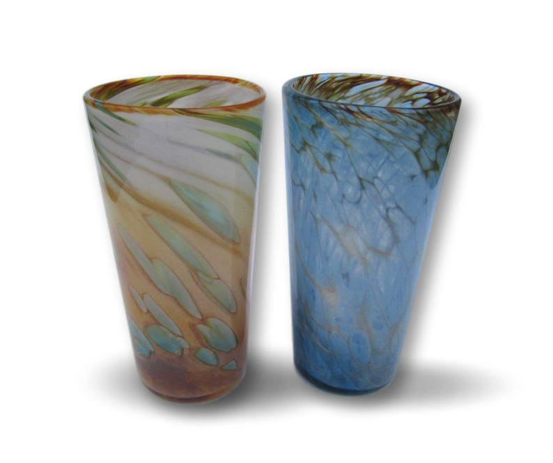 Hand Blown Pint Glass Set Mix and Match Sunrise and Sunset image 0