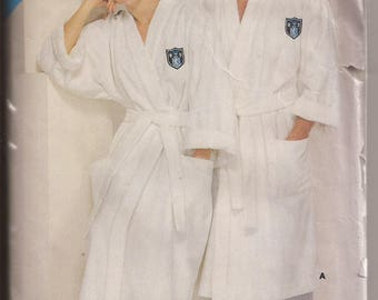 See & Sew by Butterick 5452 Mens and Womens Robe Pattern Includes Sizes A ( XS-S-M-L-XL). Vintage 1985
