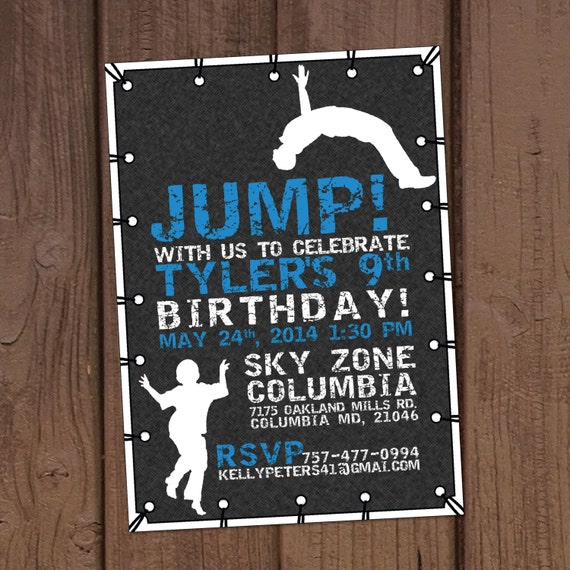 Personalised Acrylic Childrens Trampoline Park Birthday Cake Topper Decoration
