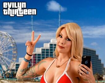 SIGNED PRINT - Bikini Girl from GTAV