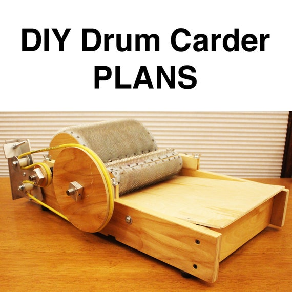 Diy Drum Carder Plans Etsy