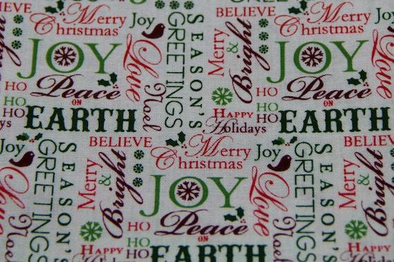 SALE CHRISTMAS PILLOWCASE Happy Holidays Christmas Words Pillowcase Kids Pillowcase Christmas Bedding Holiday Bedding Seasons Greetings