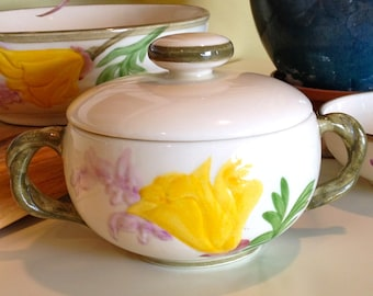 Franciscan California Poppy Sugar Bowl with Lid