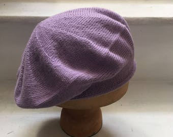 099413846444a Lilac Knitted Beret
