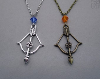 Bow and Arrow Necklace - Archery Charm Jewelry - Gift for Her - Gift for Woman - Gift for Friend