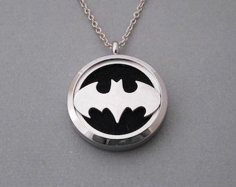 Batman Steel Diffuser Locket - Essential Oil Pendant