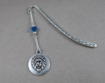 Silver Narnia Aslan Lion Metal Bookmark, The Chronicles of Narnia Inspired, Lion Charm Gifts for Readers, Bookish Literary Reader Bookworm