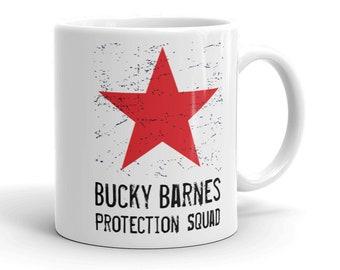 Bucky Barnes Protection Squad une tasse de café - Winter Soldier - Red Star - Avengers - Fandom - Fangirl