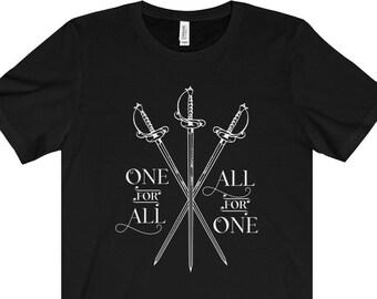 Trois Mousquetaires chemise - Crossed Swords - unisexe à manches courtes Tee - tous pour un, un pour tous