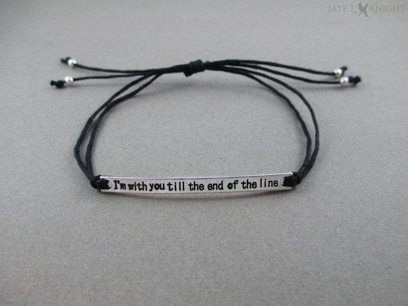 I'm With You Till the End of the Line Bracelet Captain image 0