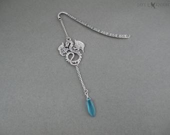 Dragon Bookmark - Silver