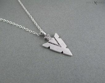 Arrowhead Necklace - Silver