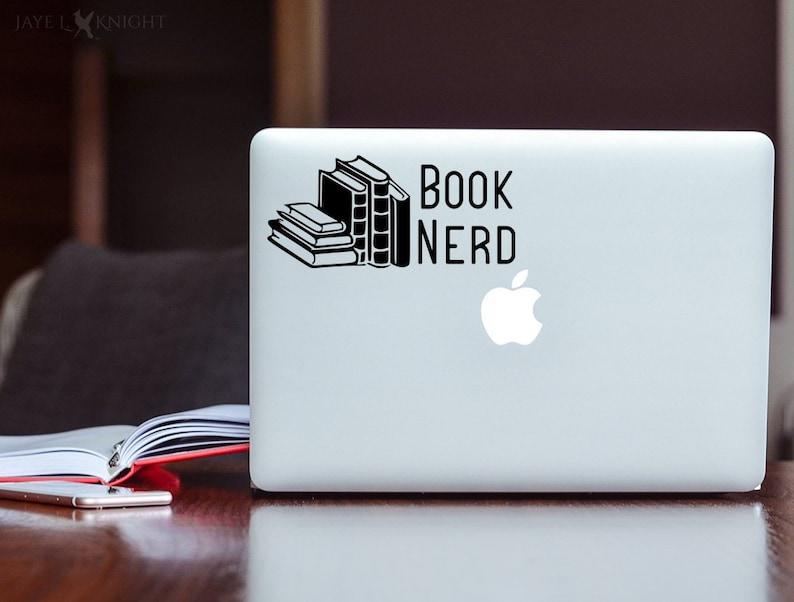 Book Nerd Decal  Reader Decal  Bookworm  Book Lover  Vinyl image 0