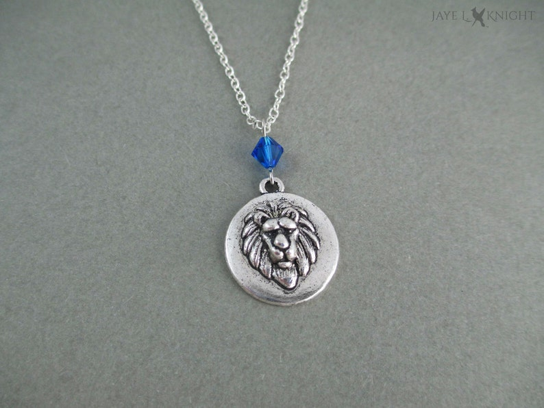 Silver Narnia Aslan Lion Necklace The Chronicles of Narnia image 0