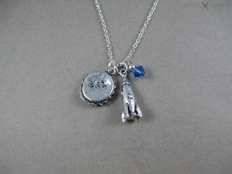 Fallout 4 Bottle Cap and Rocket Charm Necklace Gaming Gamer image 0